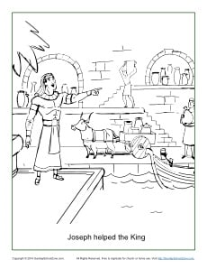 Joseph Famine In Egypt Pages Coloring Pages