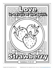 Fruit of the Spirit for Kids: Love Coloring Page