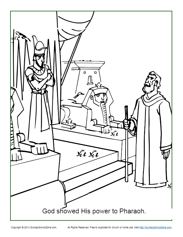 God Showed His Power to Pharaoh Coloring Page