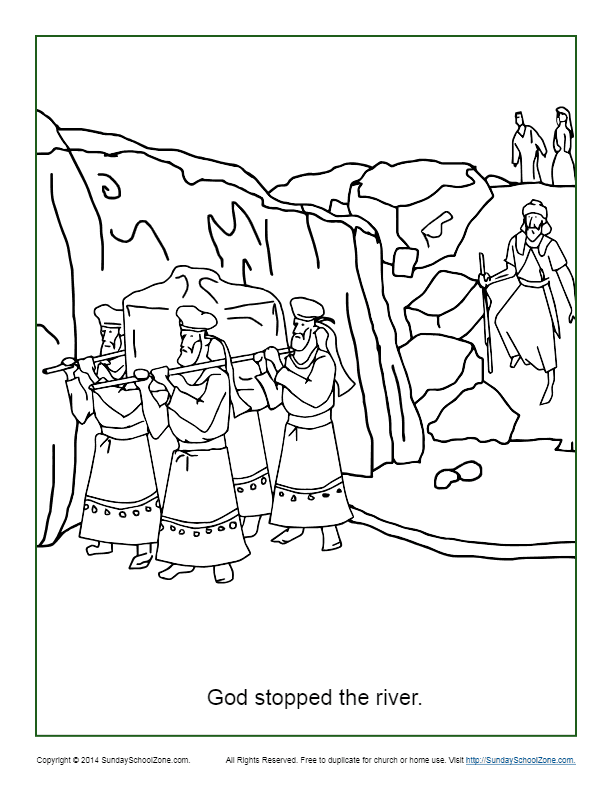 god stopped the river coloring page