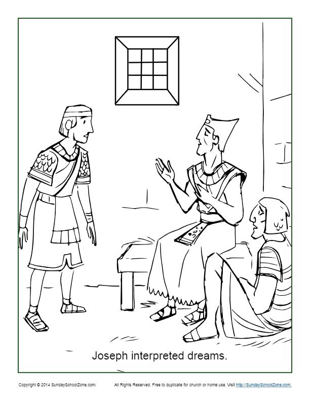 Joseph Interpreted Dreams Coloring Page
