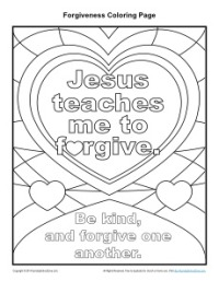 I Can Forgive Coloring Page Coloring Pages