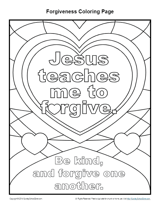Forgiveness Coloring Pages Coloring Pages