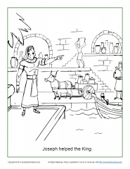 Joseph helped the king coloring page