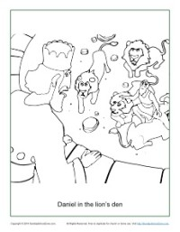 Daniel in the Lion's Den Coloring Page