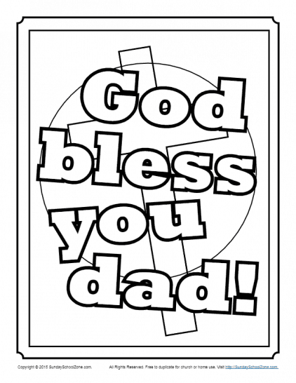 Father S Day Coloring Pages On Sunday School Zone