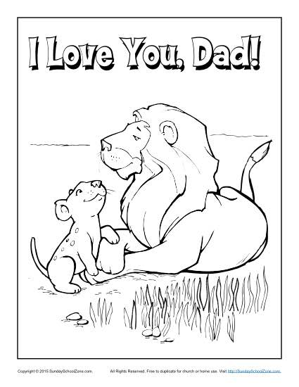 I Love You Dad Coloring Pages With A Football Coloring Pages
