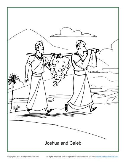Joshua And 12 Spies Coloring Pages Sketch Coloring Page