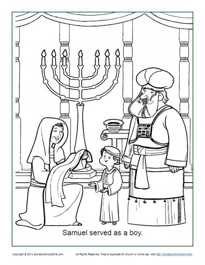 Samuel Coloring Pages : samuel, coloring, pages, Bible, Coloring, Pages, Sunday, School