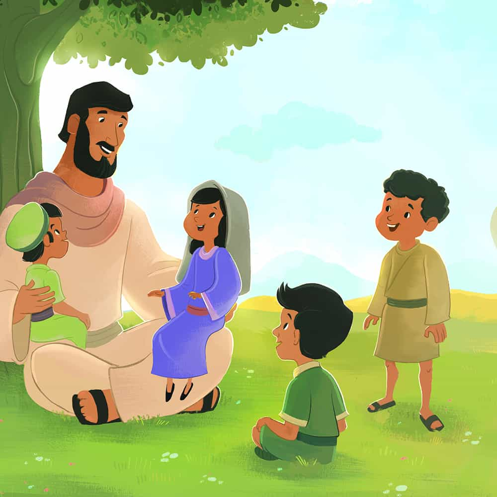 Clipart Images Pencil Jesus Blessed The Children Bible Lesson For Children