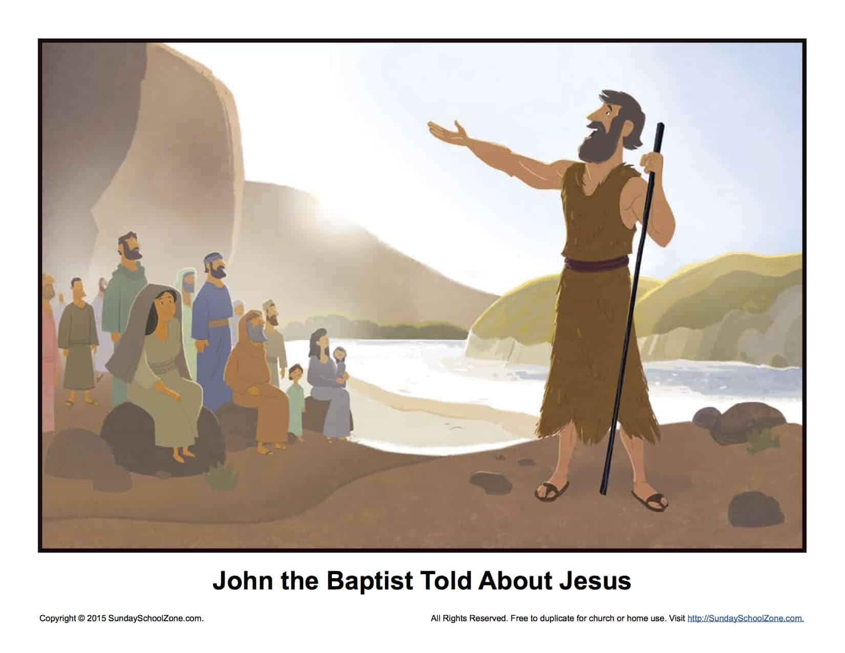 John The Baptist Told About Jesus Story Illustration