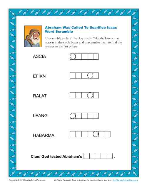 small resolution of Abraham And Sarah Worksheets   Printable Worksheets and Activities for  Teachers