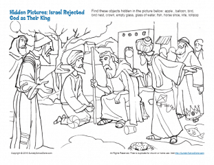 Israel Rejected God as Their King Hidden Pictures