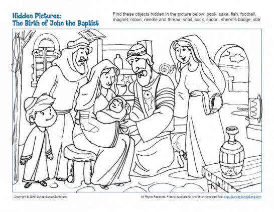 Hidden Picture Bible Activities for Children on Sunday