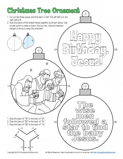 Printable Christmas Bible Activities on Sunday School Zone