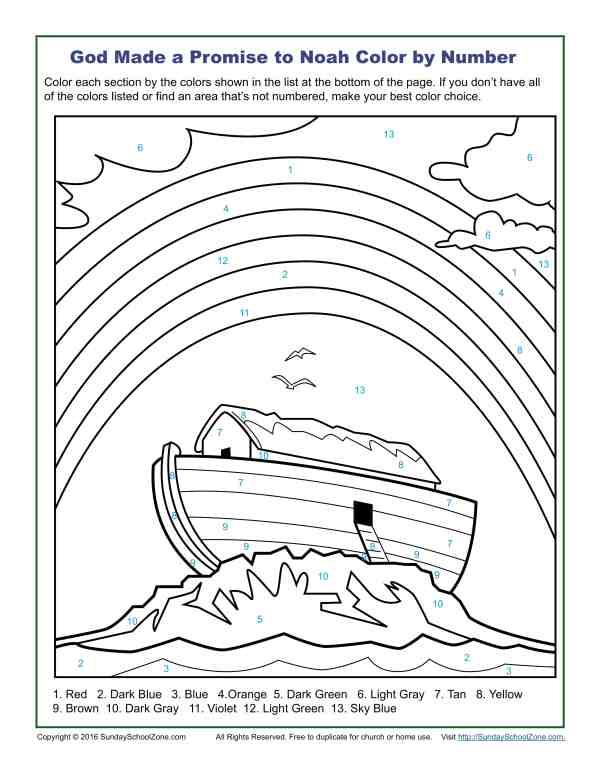 bible color pages # 9