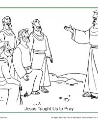 Jesus Taught Us How to Pray Coloring Page