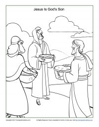 Jesus Is the Son of God Coloring Page