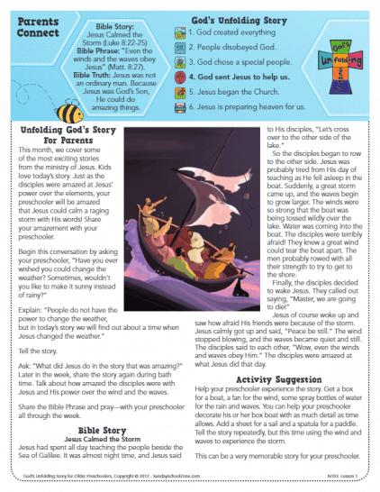 Free Jesus Calmed The Storm Bible Activities On Sunday School Zone