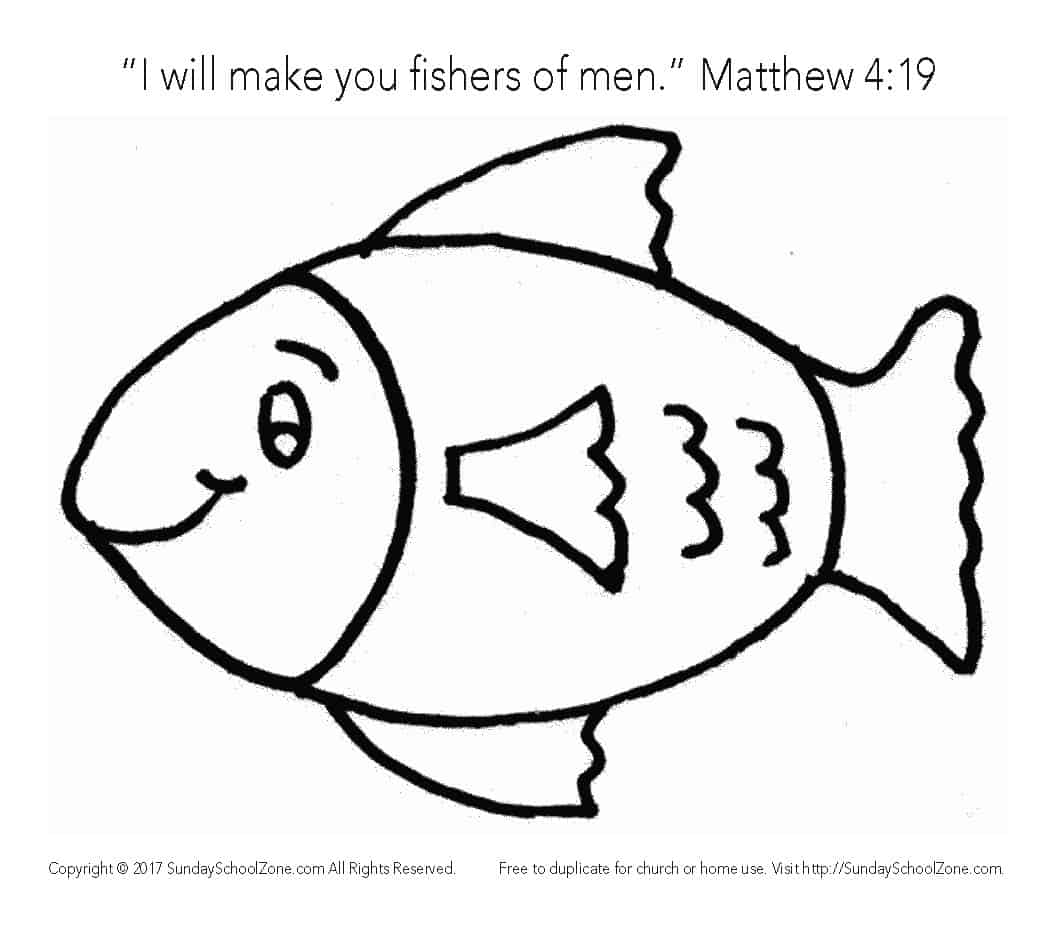 Fishers of Men Bible Story Coloring Page for Kids