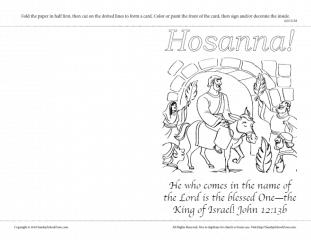 Palm Sunday Greeting Card with John 12:13b on Sunday