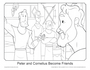 Free Peter and Cornelius Coloring Page on Sunday School Zone