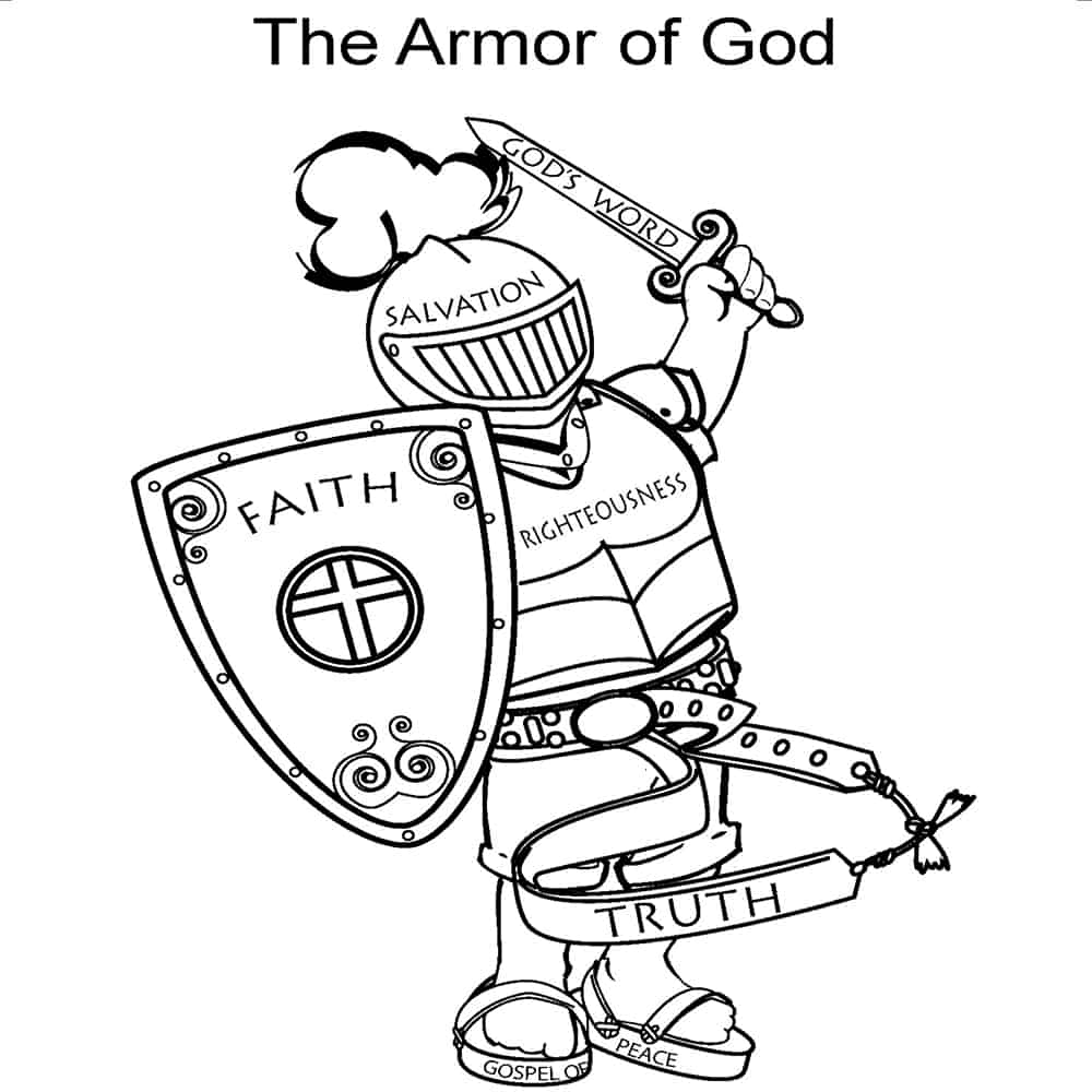 Free, Printable Armor of God Activities on Sunday School Zone