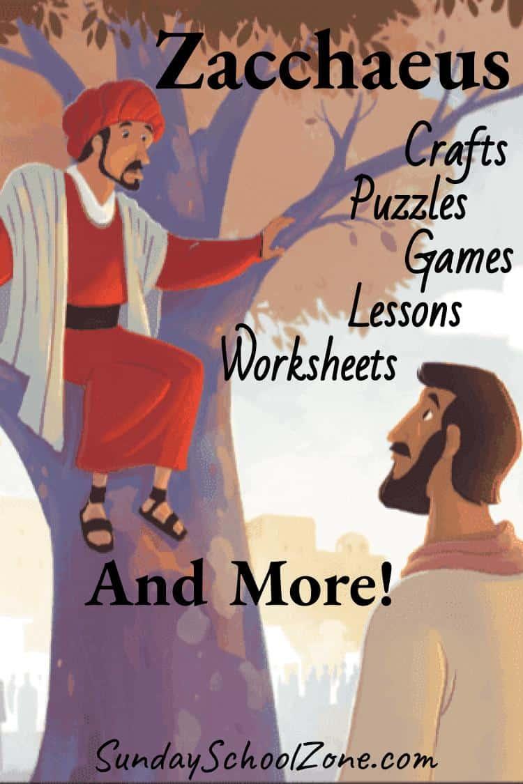 Zacchaeus Archives Children S Bible Activities Sunday School Activities For Kids