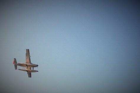 Seaplane preparing to land at Rose Bay.