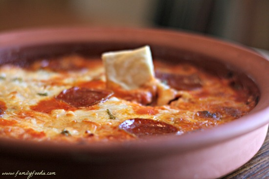 Pepperoni Pizza Dip from Family Foodie