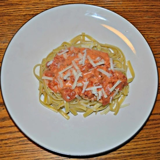 Fettuccini with Tomato Cream Sauce