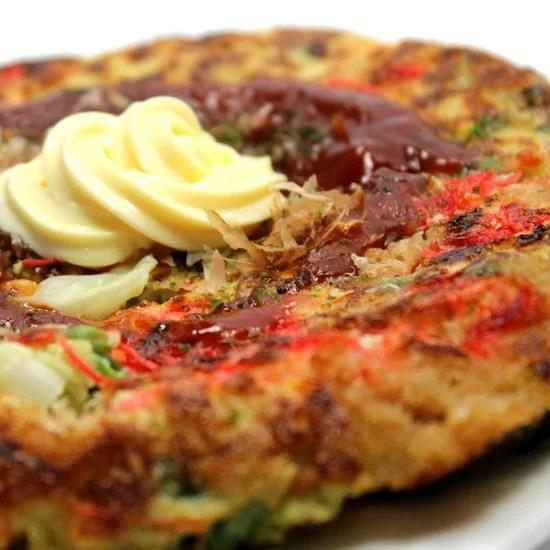 Easy Japanese Savory Okonomiyaki Pancakes by NinjaBaking.com