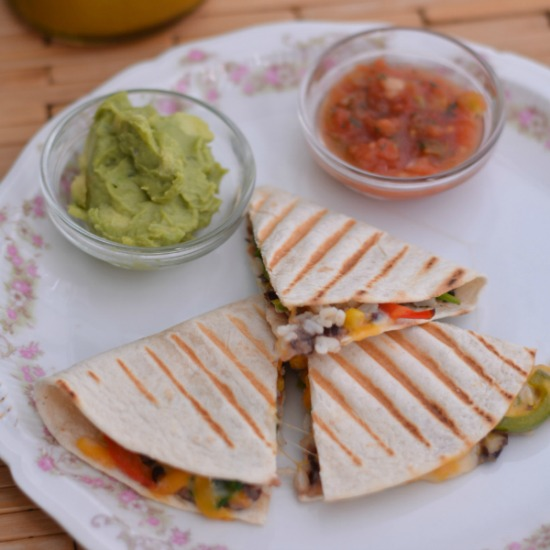 Vegetable Quesadillas from The Foodie Army Wife