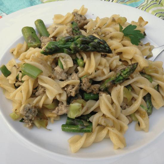 Garden Pasta from The Not So Cheesy Kitchen