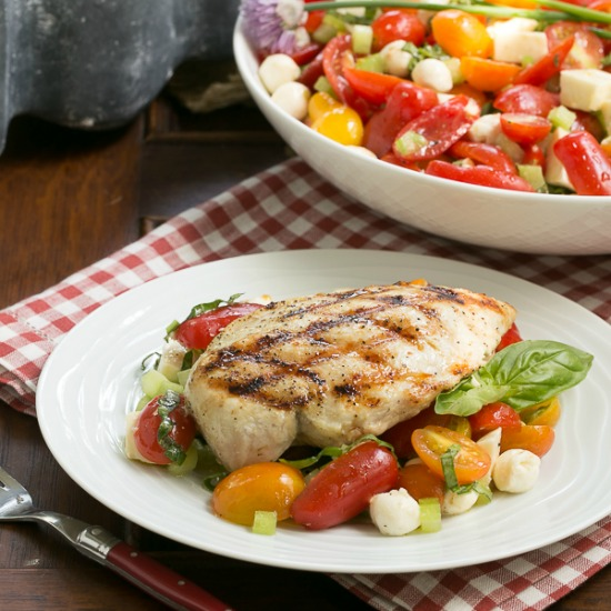 Caprese Salad with Chicken