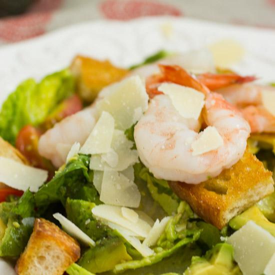 Shrimp Avocado Caeasar