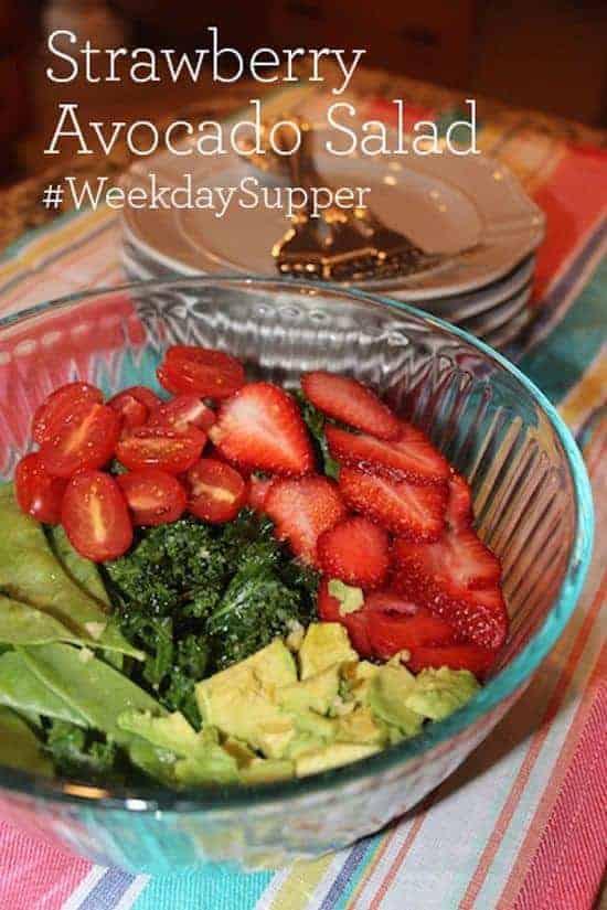 Strawberry Avocado Salad #SundaySupper