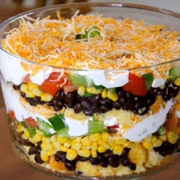 Bean and Cornbread Salad