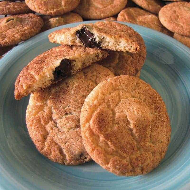 Chocolate Stuffed Snickerdoodles