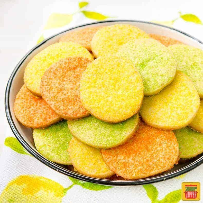 Sunshine Citrus Cookies in The Cookie Jar | Sunday Supper Movement