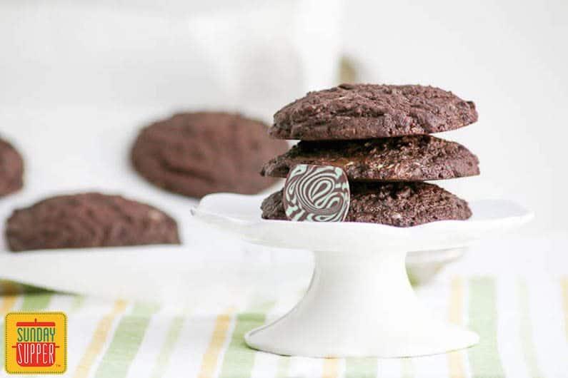 jumbo chocolate mint cookies #SundaySupper