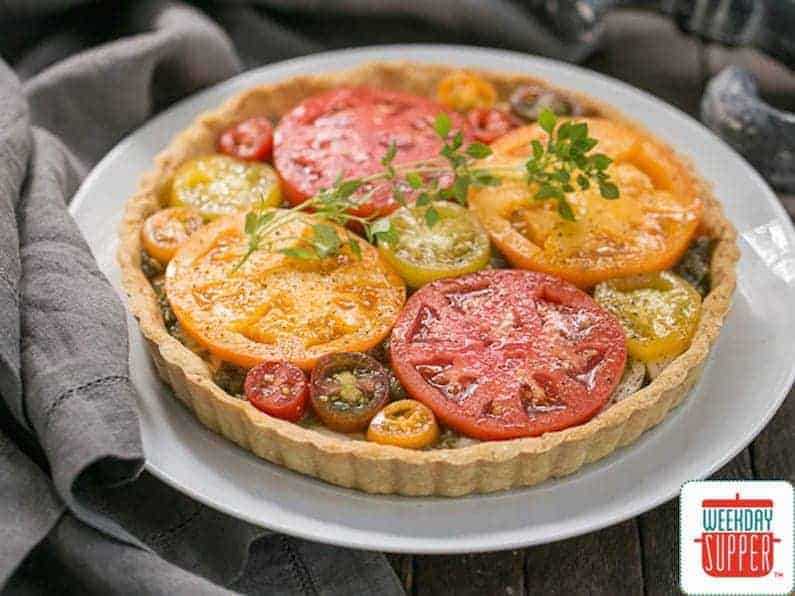 fresh tomato tart #WeekdaySupper