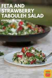 Feta and Strawberry Tabouleh #SundaySupper Feta and strawberry tabouleh is a great twist on a Middle Eastern favorite. Florida strawberries brighten the salad, adding color and a welcome sweetness.