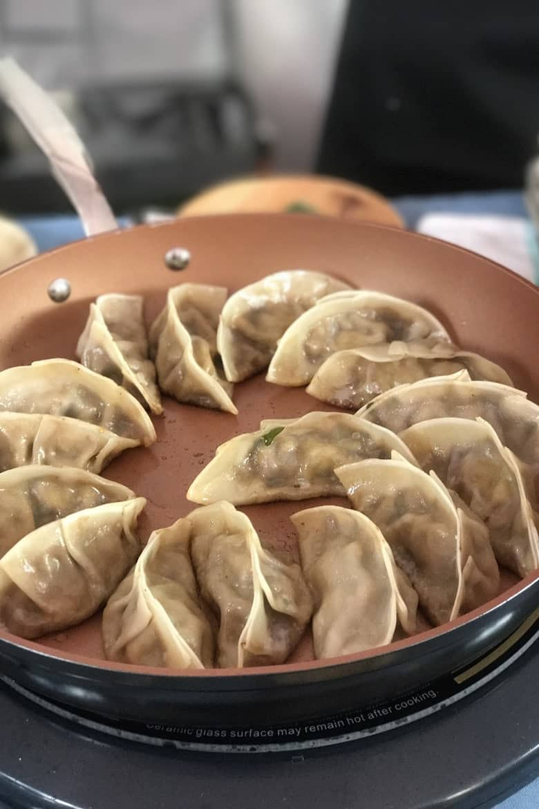 Chef Ming's pot stickers #SundaySupper