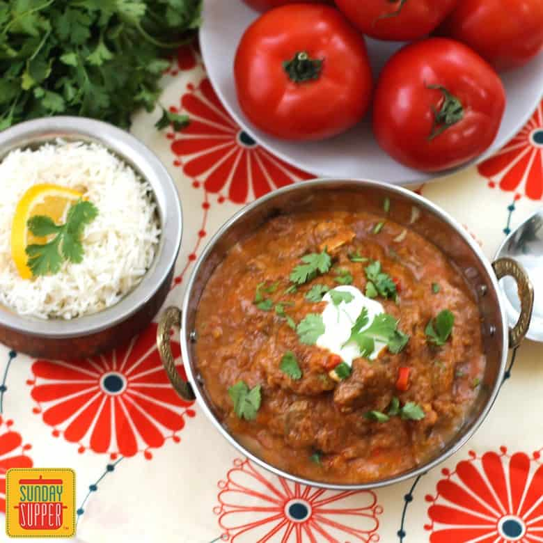 Sunday Supper recipes: Lamb and Fresh Tomato Curry #SundaySupper