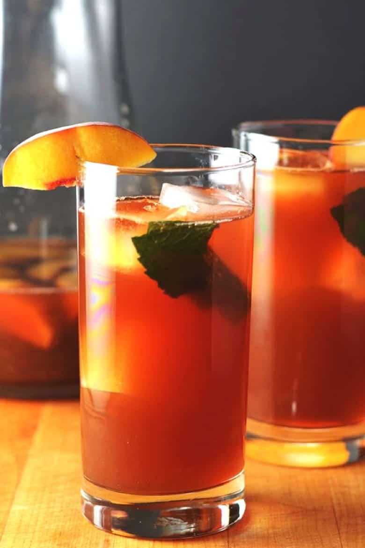 Simple Mixed Drinks - Bourbon Peach Sweet Tea