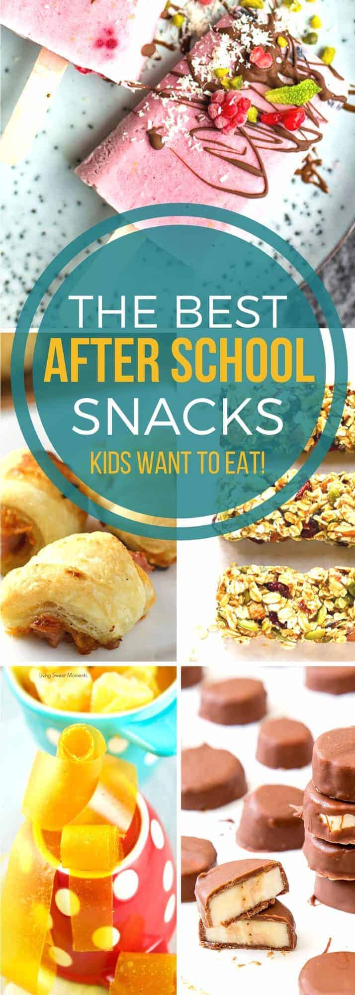 When the kids go back to school be ready with all the recipes you need for after school snack time! Our list of the best after school snacks will keep even the pickiest eaters satisfied!#SundaySupper