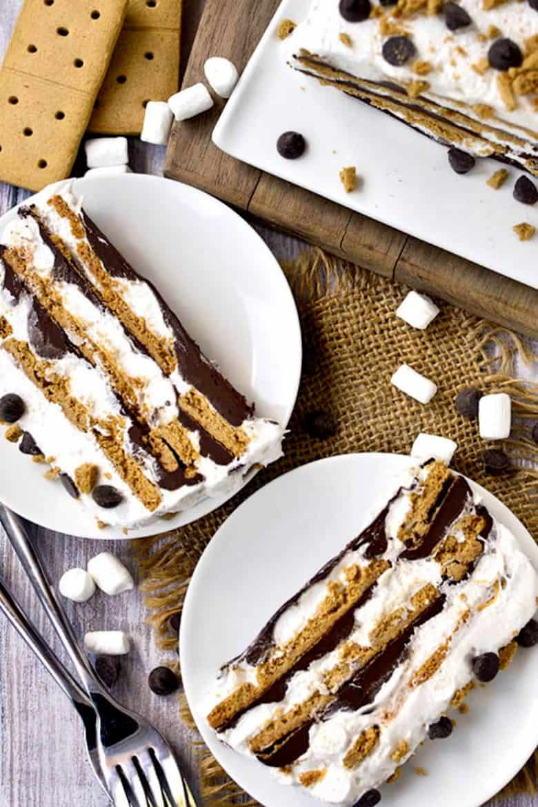 No-bake s'mores icebox cake from Iowa Girl Eats