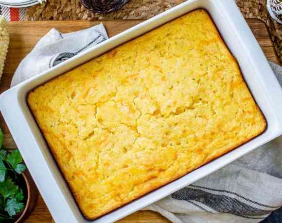 Creamed Corn Casserole #SundaySupper