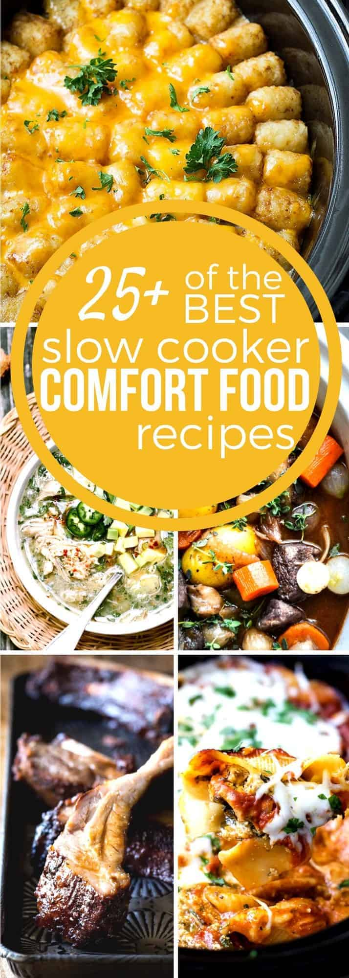 Comfort food is a hearty meal that sticks to your ribs and just makes you feel good. It's so nice to come home after a long day to a comforting meal and slow cooker recipes make cooking easy! With our Slow Cooker Comfort Food Recipes just set it & forget it for a delicious meal any night of the week! #SundaySupper  #slowcookerrecipes